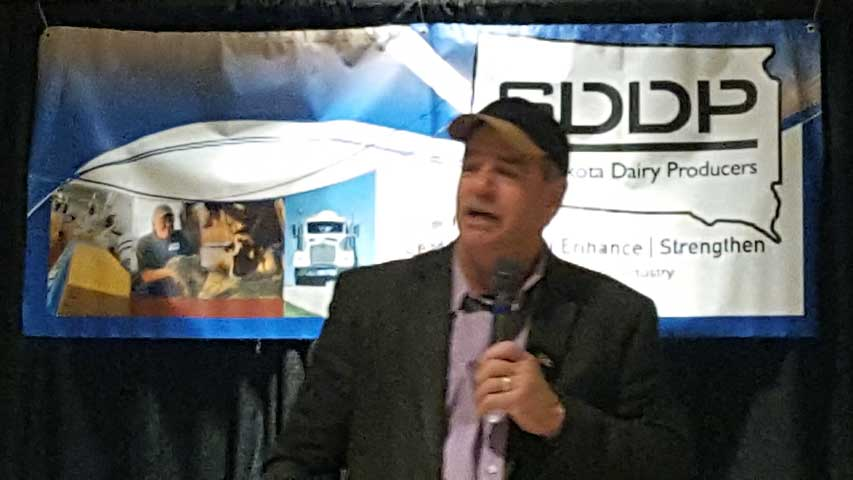 Jerry Carroll at South Dakota Dairy Producers Annual Meeting in Brookings, SD