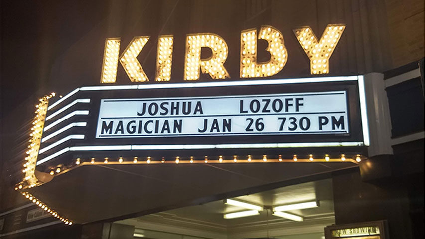 Joshua Lozoff at Kirby Cultural Arts Complex Kirby Theater Performance in Roxboro, NC