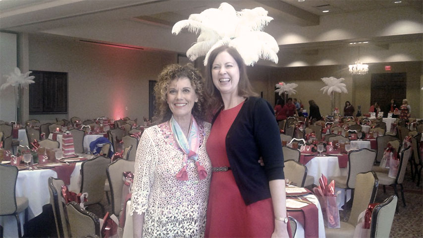 Leslie Norris Townsend at American Heart Association, Inc. Go Red for Women Luncheon in Odessa, TX