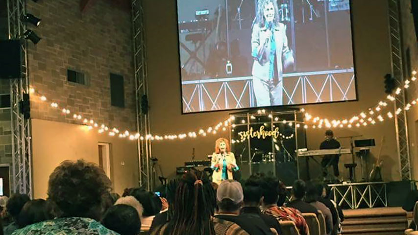 Leslie Norris Townsend at Bethel Family Worship Center Sisterhood Women's Conference in Indianapolis, IN