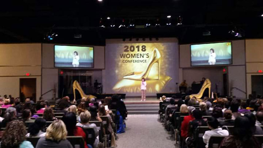 Leslie Norris Townsend at International Praise Church of God Women's Conference in Elgin, SC