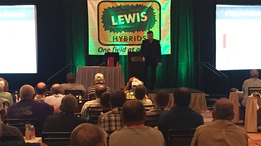 Lyndy Phillips at Lewis Hybrids Annual Customer Meetings in St. Charles, MO