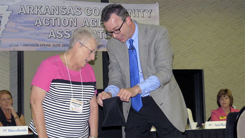 Lyndy Phillips at Arkansas Community Action Agencies Association, Inc. Annual Conference in Fort Smith, AR